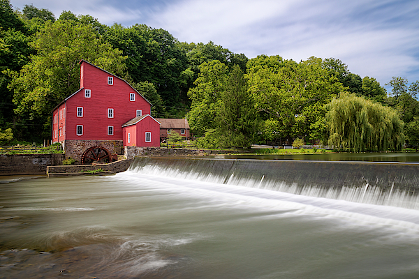 Red Mill In Clinton New Jersey by Susan Candelario